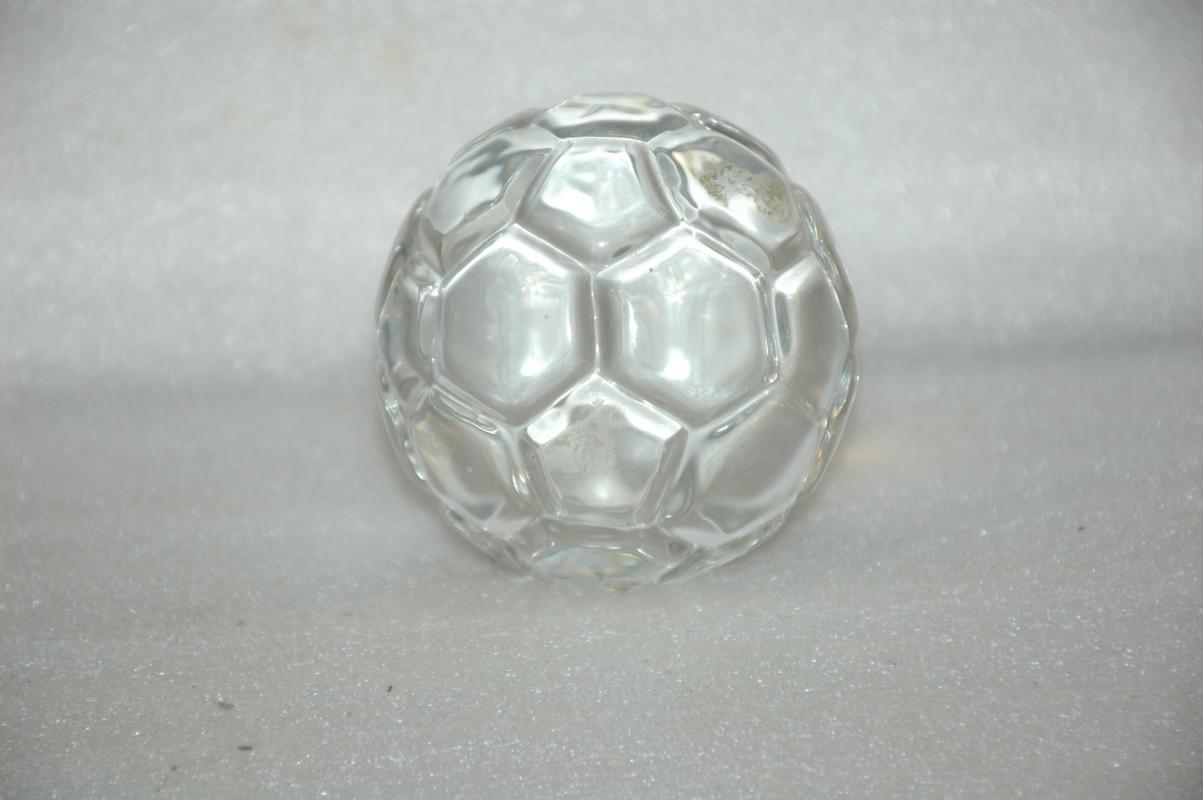 Crystal Glass Soccer Ball Paperweight