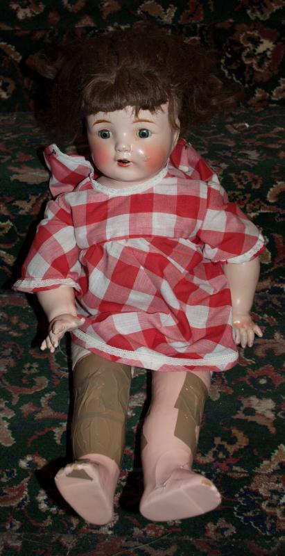 ANTIQUE  Open Mouth Composition  HORSMAN BABY DOLL MAMA CRIER