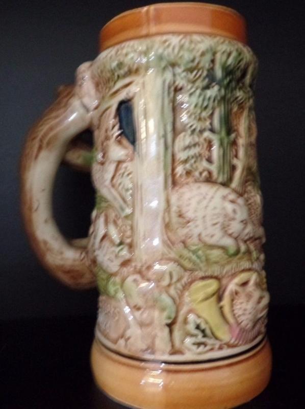 Ceramic Mug Fox Beer Stein Boar deer die grune hiid Des Jagers Freud