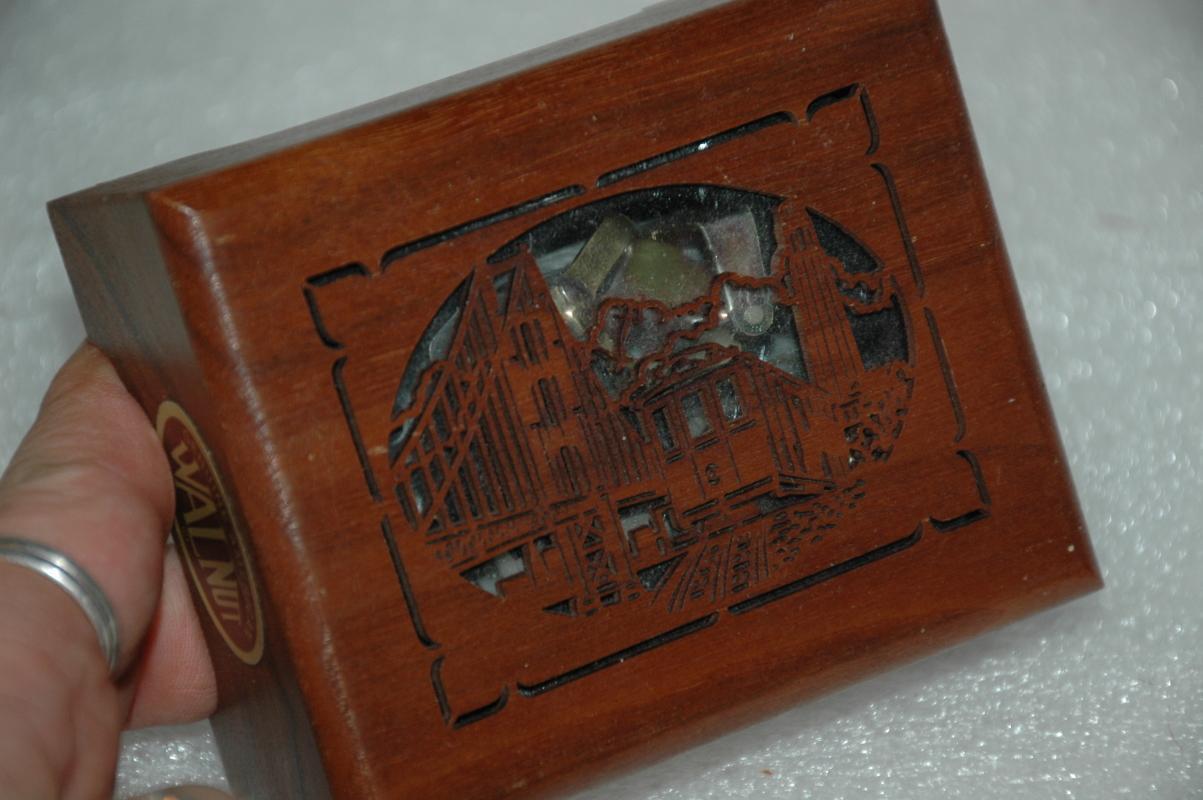 Lasercraft walnut music box