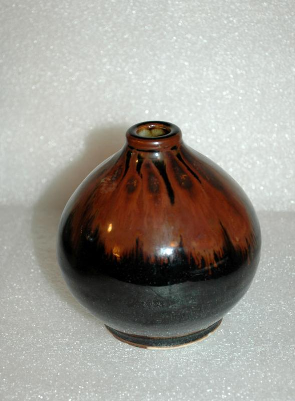 Porcelain Bulbous Brown Drip Glaze