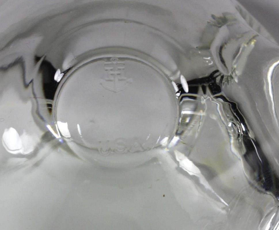 Anchor Hocking   Fish Shape clear glass covered container , nut or candy bowl dish.
