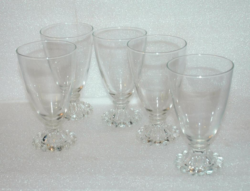 5 Candlewick  Water Glasses 5.5