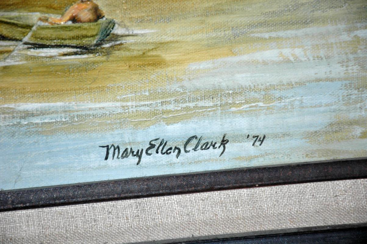 Original Oil Painting Steel Headers at Thomas Eddy by Mary Ellen Clark
