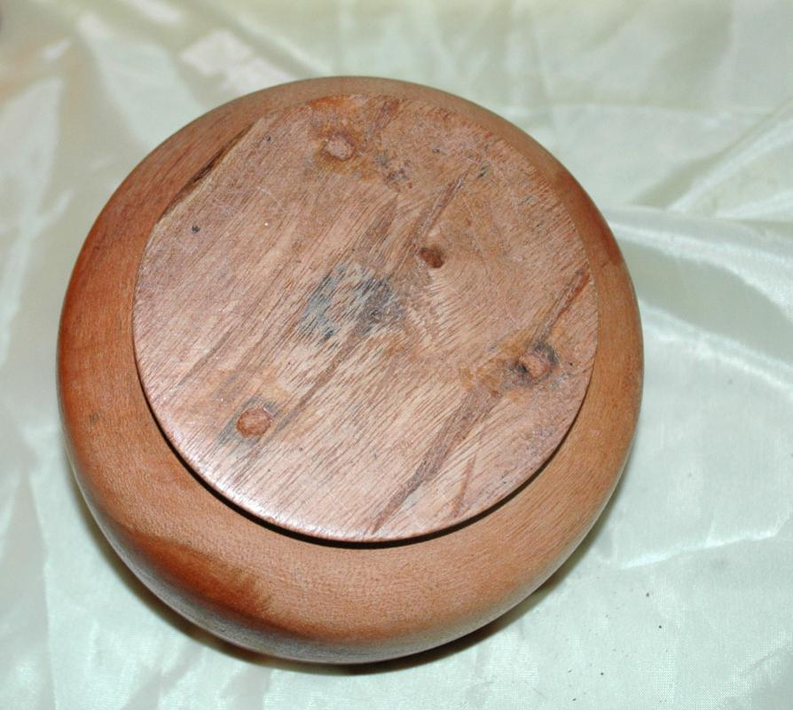 Turned Wood Mortar & Pestle , Tropical Hard Wood Hand Crafted
