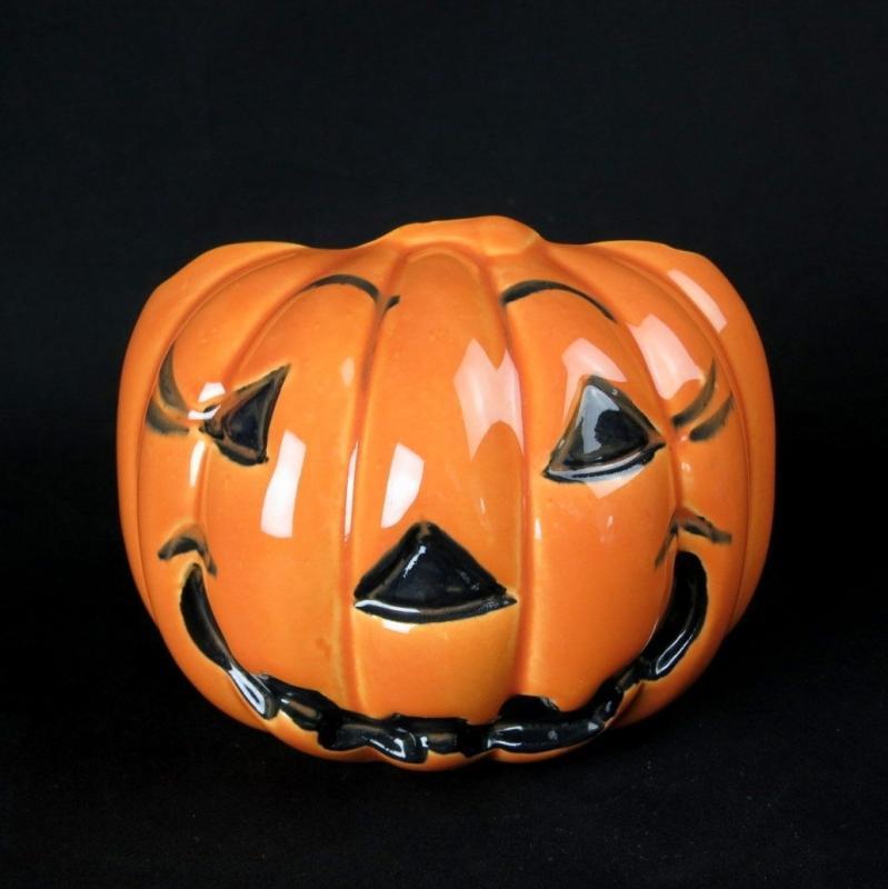 Vintage Haeger Pottery Halloween Jack-O-Lantern Pumpkin Planter
