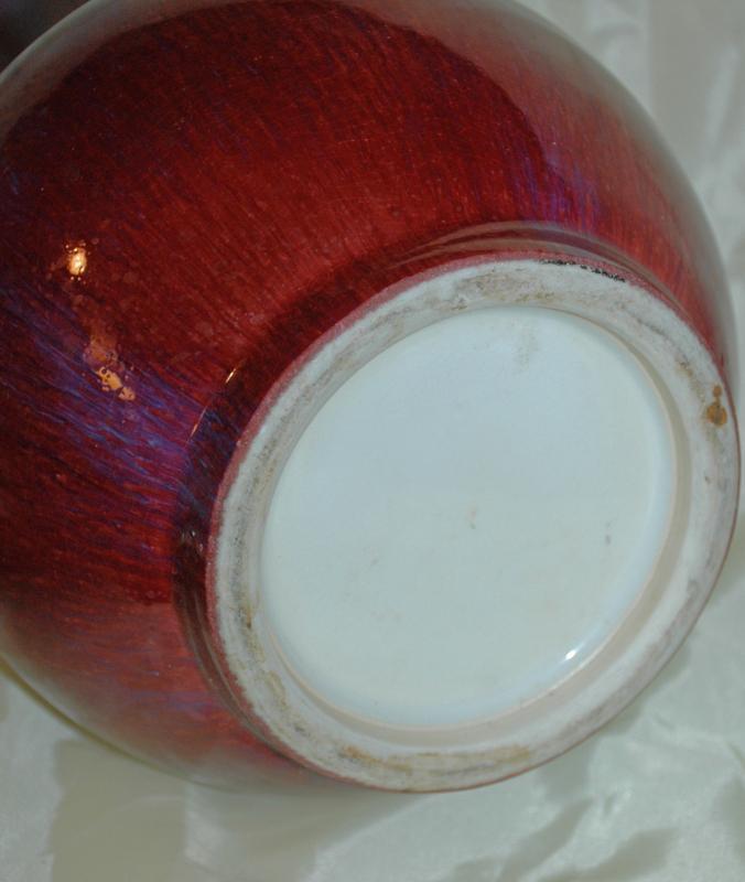 Chinese Oxblood Flambe Vase 12