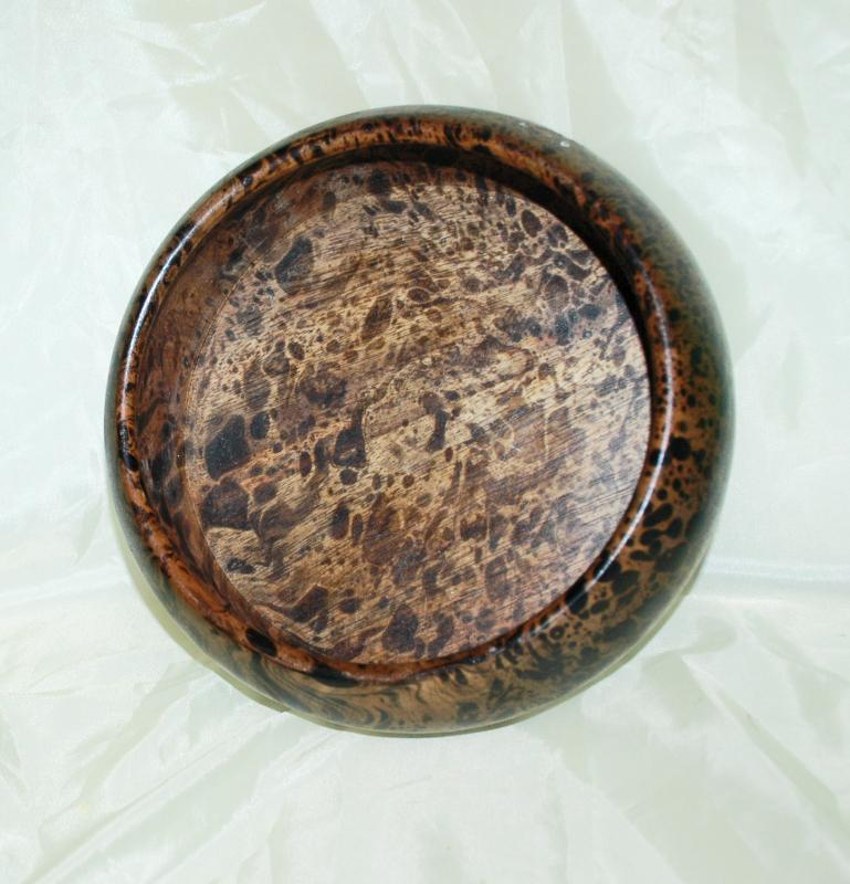 Leopard Wood Turned Bowl Tropical Hardwood   Centerpiece  Bowl