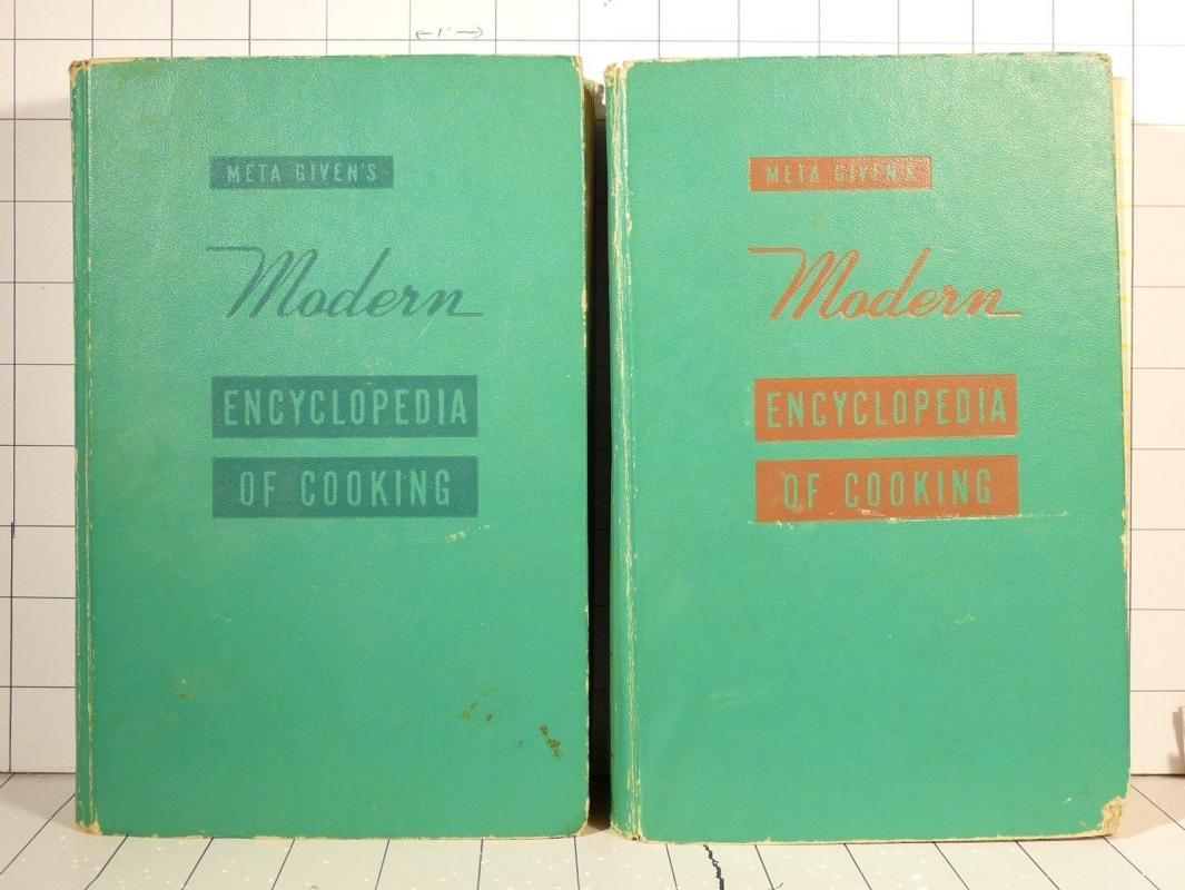 Meta Givens Modern Encyclopedia of Cooking Volumes 1 & 2 1959 Hardcovers