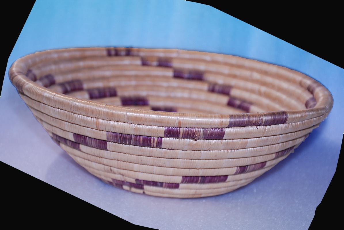 Hand Woven African Basket Bowl /  Tanzania,  Vintage
