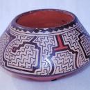 Older Pottery Clay Bowl   Shipibo Conibo Native  Peruvian