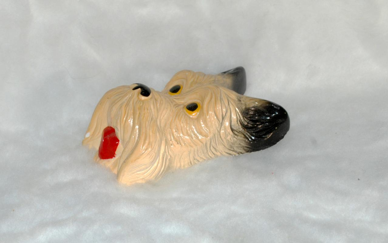 Scottie dog chalkware  wall plaque    from the 40/50's