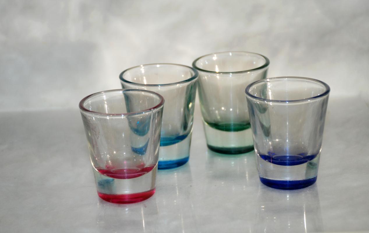Anchor Hocking Assorted Colors Shot Glasses, Set of 4
