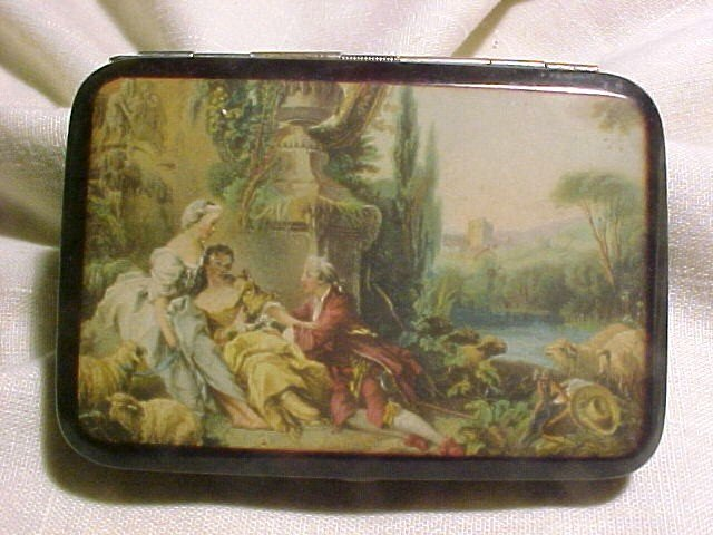 Old Germany Enameled Cigarette Case Victorian