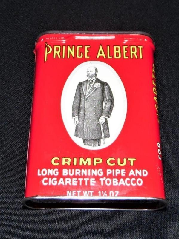 Prince Albert Crimp Cut Long Burning Pipe Cigarette Tobacco Tin with original paper insert