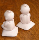 Old Bisque Kewpie Salt & Pepper Shakers