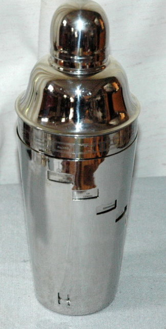 Dial A Drink Recipe Stainless Steel Cocktail Shaker