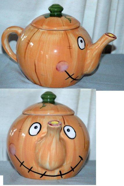 Smiley Face Pumpkin Tea Pot