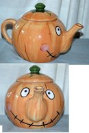 Smiley Face Pumpkin Tea Pot