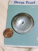 Huge Abalone Shell Button on Card