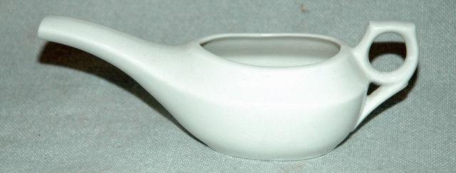 White Porcelain German  Invalid Feeder