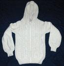 100% Wool Irish Fisherman's Sweater with Hood sz Small  * PRICE REDUCED !**