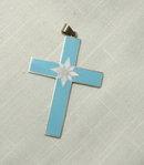 Denmark Sterling Enamel Cross Pendant Casar,