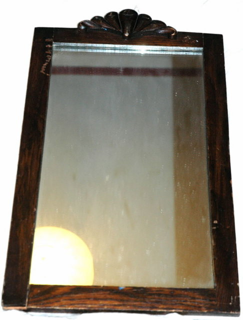Old Mirror with Art Deco Fan Detailing