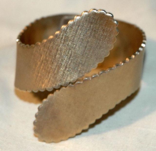 Very Old Deco Brass Hinged Bracelet