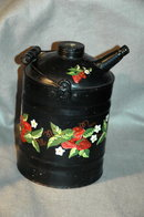 Tole Painted Vintage Oil or Petroleum Can