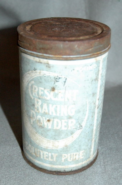 Antique Crescent Baking Powder Can