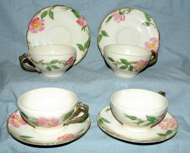 DesertRose Franciscan Earthenware Cups Saucers