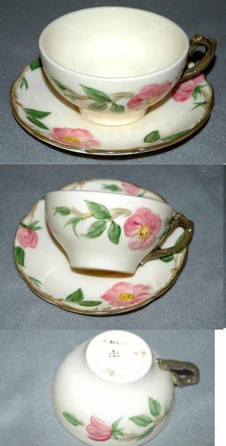 Set of 4 DesertRose Franciscan Cups & Saucers