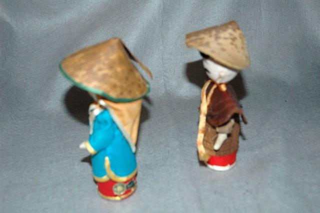 Pair of Asian Dolls Made in  Taiwan China Free