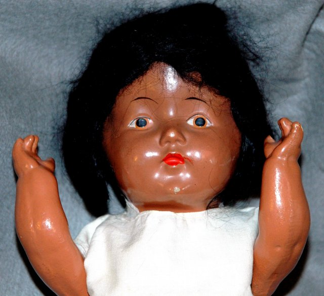 Antique Black Composition Doll