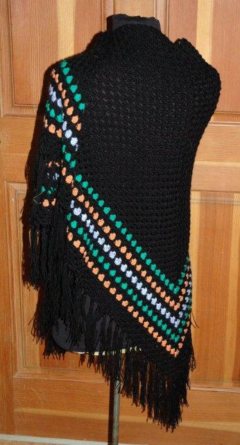 Beautiful Hand Crocheted Shawl with Fringe
