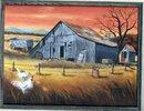 Original  Ozark Barn Painting signed by Greer  * PRICE REDUCED *