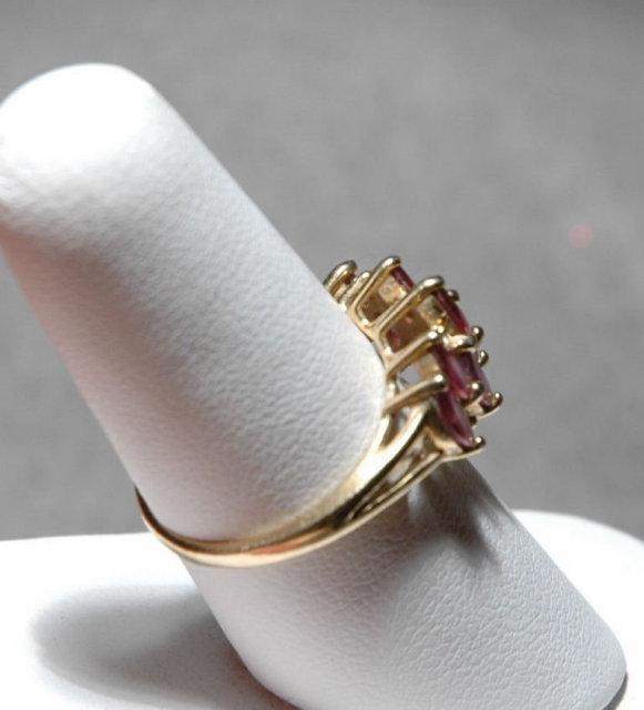14K Gold  Pink Tourmaline & Diamond Ring