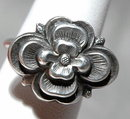 Old Chinese 900 Silver Flower Ring