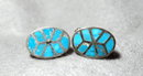 Sterling &Turquoise Handcrafted Cuff Links