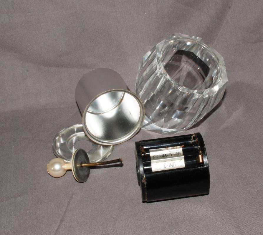 Crystal Electric Table or Desk Top Lighter Korex Electro  Inst-A-Match