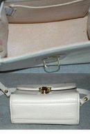 Dooney & Bourke Cream Leather Shoulder Bag