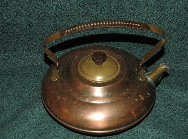 Copper Brass Tea Kettle Made in Holland