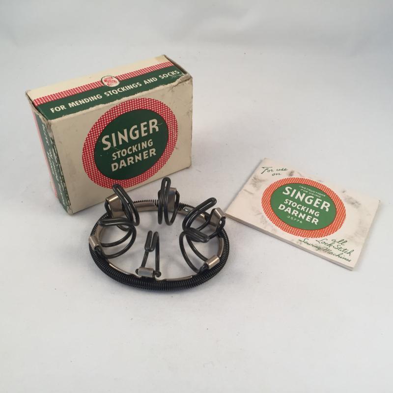 Antique 1940's Singer Stocking Darner # 35776, Made in USA, Vintage Stocking Darner, Singer Attachment Stocking Darner