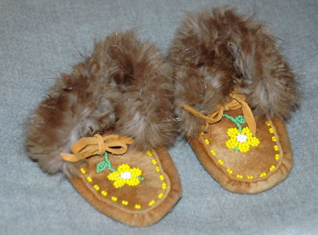 Authentic Hand Made Alaskan Beaded Fur Trimmed