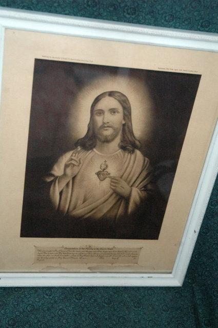 1926  Sepia Tone  Jesus Print   Antique