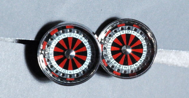 Mini Roulette Cuff Links
