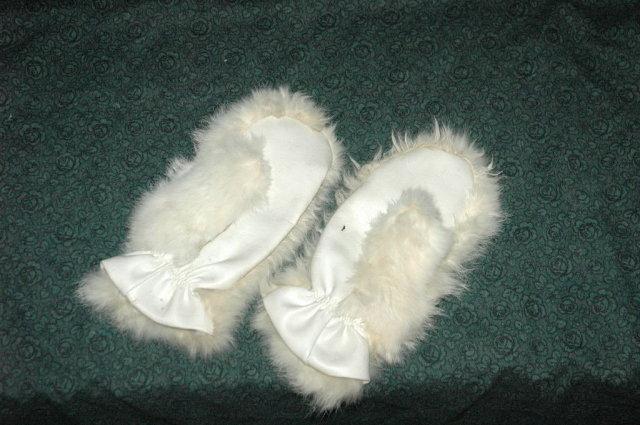 Vintage Rabbit Fur Ladies Size Mittens