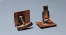 Vintage Copper & Enamal Cuff Link  -RETO MOD