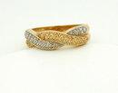 4.1 grams 14K 2-tone Gold Diamond Bypass Ring 7
